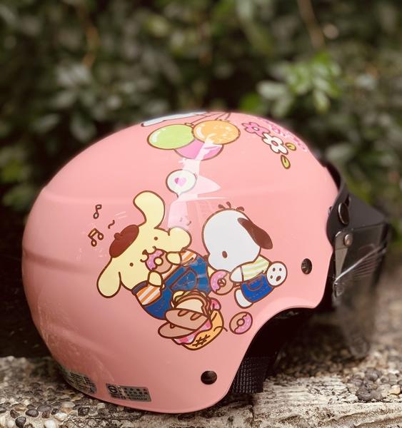 HELLO KITTY安全帽,兒童安全帽,822,823,KT#01/粉,附抗UV-PC安全鏡片
