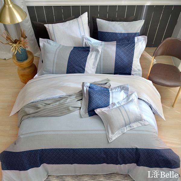 義大利La Belle《時尚空間》加大純棉防蹣抗菌吸濕排汗兩用被床包組