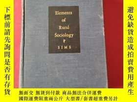 二手書博民逛書店Elements罕見of Rural Sociology【民國國