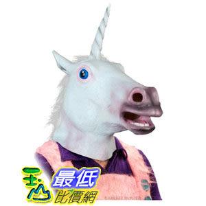 [104美國直購] Accoutrements Magical Unicorn Mask 擬真動物面具 獨角獸 馬頭 頭套 $1573