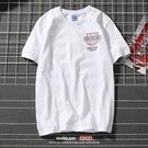 短袖T恤 韓版街舞短袖男寬鬆純棉學生男裝街頭夏季體恤
