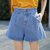 618好康鉅惠牛仔短褲女高腰寬鬆韓版顯瘦熱