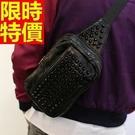 胸包真皮肩背包單肩包精緻簡單-鉚釘復古多功能設計66a9【巴黎精品】