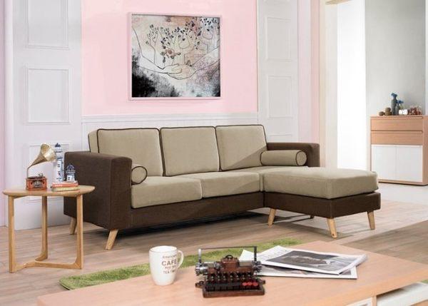 【新北大】✪ C337-2 奇比L型布沙發 (全組)(附抱枕) -18購