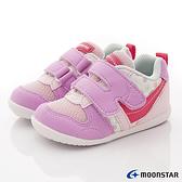 日本月星Moonstar機能童鞋HI系列寬楦頂級學步鞋款77S62粉花(寶寶段/中小童段)