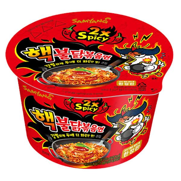韓國 激辛火辣雞肉風味鐵板炒麵(105g)【小三美日】2倍辣特別版