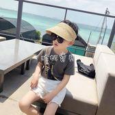 兒童帽子 親子帽母子空頂遮陽帽男童沙灘草編帽寶寶防曬帽配 珍妮寶貝