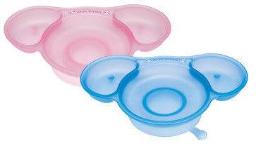 【奇買親子購物網】酷咕鴨KU.KU.-二階段學習餐盤(藍色/粉色)