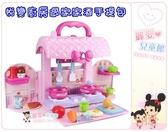 麗嬰兒童玩具館~悅變廚房過家家酒手提包.一鍵變形手提箱玩具.燈光音樂廚房廚具手提盒