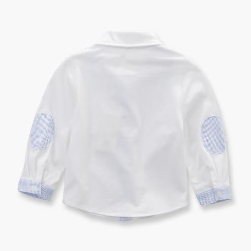 DaveBella 假吊帶長袖白襯衫 DB3562