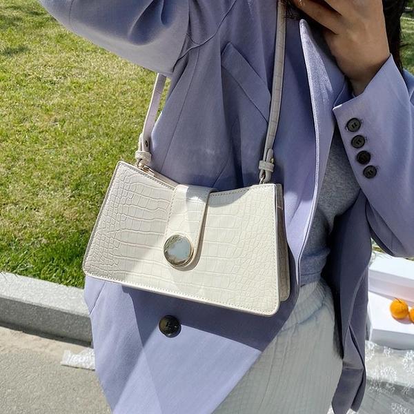 手提包 小包包2021新款潮網紅單肩腋下包法棍包女包流行斜挎包女百搭ins 快速出貨