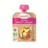 BABYBIO 有機香蕉杏桃纖果泥90g-法國原裝進口6個月以上嬰幼兒專屬副食品