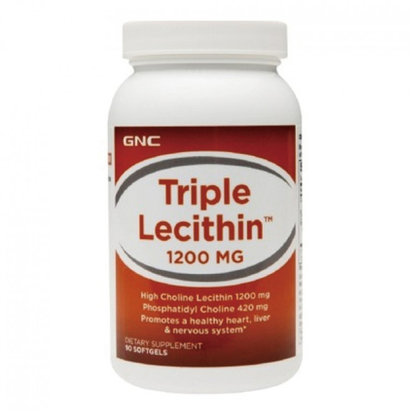 專品藥局 GNC 健安喜 三效卵磷脂膠囊食品1200mg (90顆)【2009614】