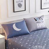 一對裝純棉枕套全棉枕頭罩48枕芯套74cm成人單人枕用枕皮大號情侶花間公主