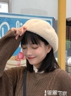 貝雷帽 網紅貝雷帽女秋冬毛呢韓版日系百搭毛絨英倫復古冬季可愛蓓蕾帽子 智慧e家 新品