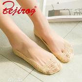 蕾絲船襪女純棉短襪子女防滑夏天韓國可愛薄款 五雙裝「夢娜麗莎精品館」