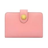 【Cath kidston】胭脂粉色皮革名片夾