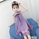 女童洋裝新款韓版夏裝洋氣網紗裙兒童裝背心裙公主蓬蓬裙子