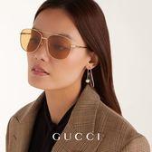GUCCI 墨鏡 雙槓 太陽眼鏡 GG0410SK 004 金 久必大眼鏡