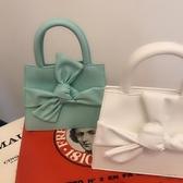 手提包 2020春夏新款小眾設計蝴蝶結腰包可愛甜美手提單肩斜挎mini包包女
