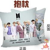 BTS 白色情人節 雙面圖案抱枕 靠墊 枕頭(40x40公分)E854-2【玩之內】韓國 防彈少年團 SUGA JIMIN