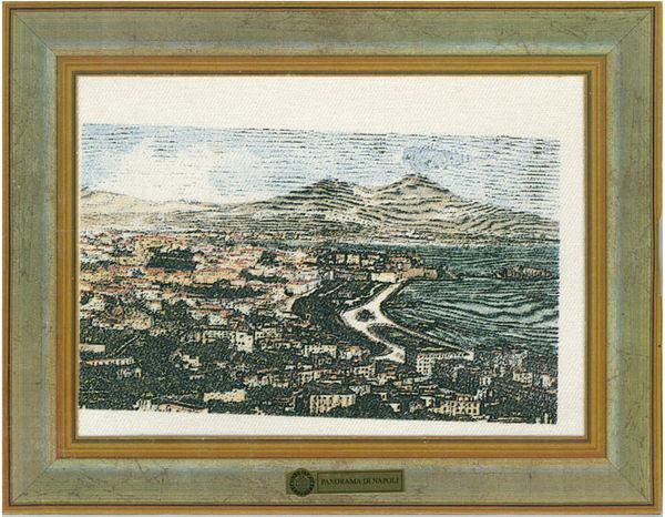 義大利製帆布版畫明信片 - 拿坡里風景