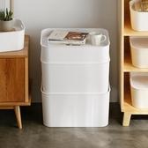 塑料收納箱有蓋衣服收納盒玩具整理箱衣柜儲物箱子 居享優品