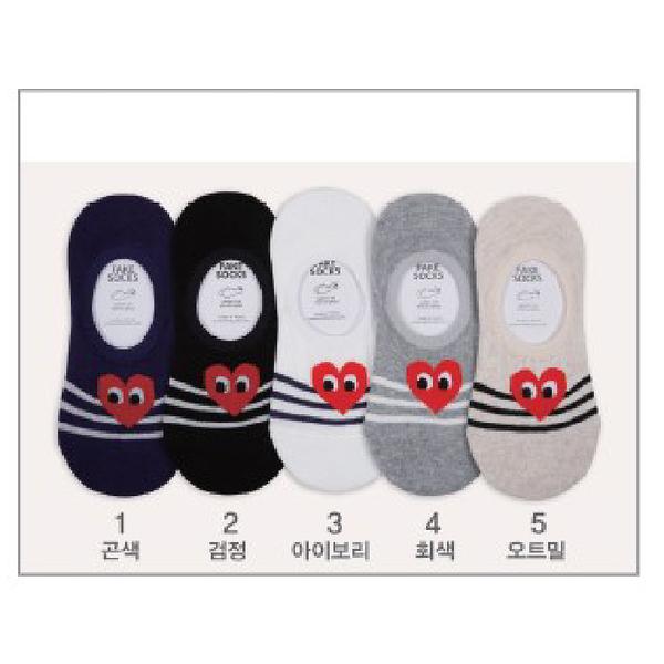 韓國愛心造型隱形襪-多款任選 (SOCK-057-F)