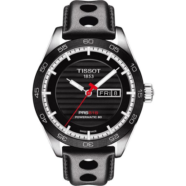 TISSOT 天梭 PRS516 系列時尚機械手錶-黑/42mm T1004301605100