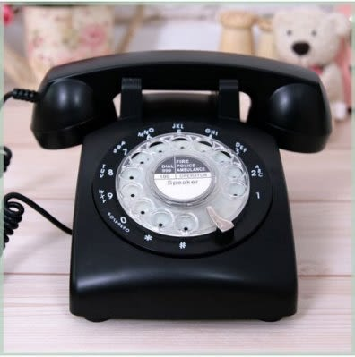 歐美仿古電話機 旋轉撥號復古座機【藍星居家】