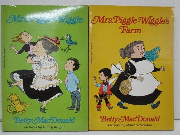 【書寶二手書T1/少年童書_AQT】Mrs.Piggle-Wiggle_Mrs.Piggle-Wiggle s Farm_2本合售