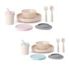 【加贈矽膠圍兜】Miniware 天然聚乳酸兒童學習餐具 小食客六入組(2款可選)