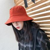 (工廠直銷不退換)M15漁夫帽女夏季刺繡純色日系情侶休閒百搭學生街頭帽太陽帽NE-E310-B韓依戀