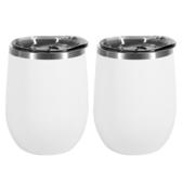 CoFeel嚴選 304不鏽鋼雙層真空陶瓷保溫杯附蓋330ml(2入)