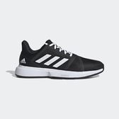 Adidas Courtjam Bounce [EG1136] 男鞋 網球 透氣 耐磨 緩衝 舒適 穿搭 愛迪達 黑白
