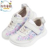 《布布童鞋》日本IFME花繪采風灰色兒童機能運動鞋(15~21公分) [ P0R301J ]