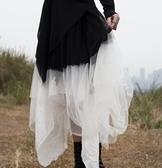 新款暗黑風漸變色不規則仙女網紗裙蓬蓬裙/設計家