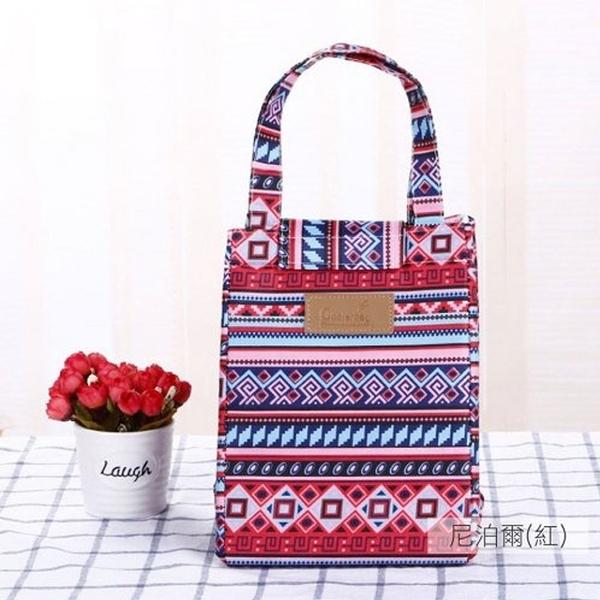 麋貳屋 造型時尚手提野餐袋-尼泊爾紅