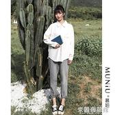 長袖襯衫 白襯衫女設計感小眾秋新款韓版寬松長袖襯衣文藝百搭學生上衣 618大促銷