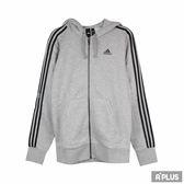 Adidas 男 ESS 3S FZ B 愛迪達 棉質--運動外套(連帽)- CF5056
