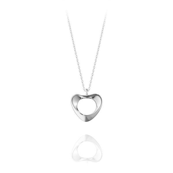 Georg Jensen Jewellery Hearts of Georg Jensen 152E 心型系列, 真愛之心 純銀項鍊 小尺寸『贈 拭銀布兩份』
