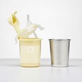 美國 Kangovou小袋鼠不鏽鋼安全兒童兩用杯-檸檬黃