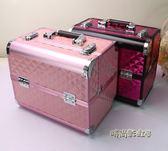韓國專業大號手提化妝箱 多層美甲箱 帶鎖彩妝工具箱「時尚彩虹屋」