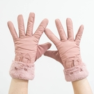 男女手套 雙層防風女士手套觸屏可愛兔子耳朵絨夾棉款【快速出貨八折搶購】