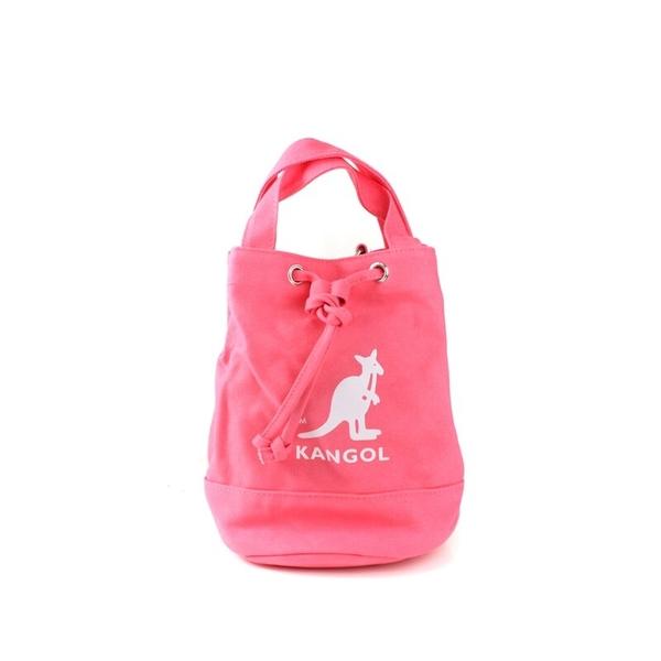 KANGOL 淺粉紅 圓筒袋 帆布 英國 (布魯克林) 6925300741