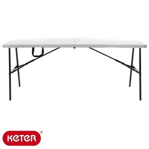 KETER 折疊長方桌 六呎 白色 戶外傢俱系列 型號ZK-180