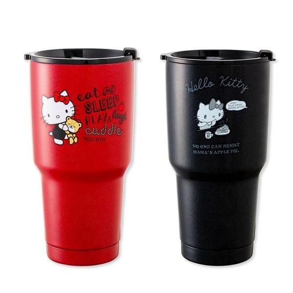 【Love Shop】Hello Kitty 陶瓷不鏽鋼保冰杯 真空保溫杯 冰霸杯900ML正版授權 304不鏽鋼