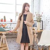 【Tiara Tiara】激安 長版無釦長袖針織罩衫(駝/深藍/灰)