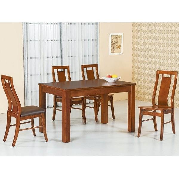 餐桌 AT-824-1 柚木4尺餐桌 (不含椅子) 【大眾家居舘】