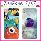 Asus ZenFone5 / 5Z (2018) 6.2吋 時尚彩繪手機殼 卡通保護套 可愛塗鴉手機套 TPU背蓋 輕薄保護殼